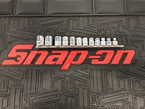 Snapon 3 8 Drive 12 Point Shallow Sockets On Rail 8 19mm