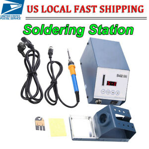 New 110v 90w Lcd Digital Anti static Soldering Iron Station Desoldering Smd Tool