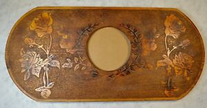 Antique Carved Roses Wood Picture Mirror Frame 11 X 24 Victorian Arts