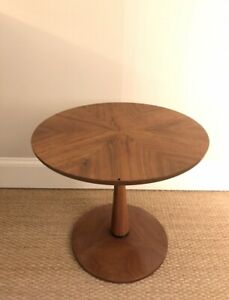 Kipp Stewart Drexel Mid Century Modern Declaration Walnut Side End Table