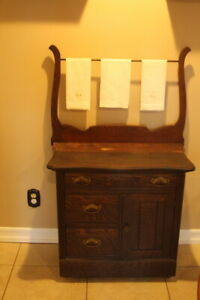 Antique Dry Wash Stand Cabinet Dresser With Harp 29 5 X16 X30