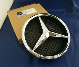 3 Fit Mercedes Front Grille Star Emblem Logo Grill Badge E350 E550