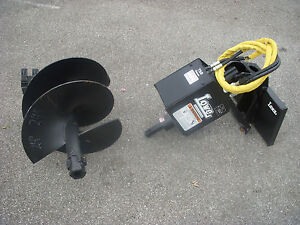 Toro Dingo Mini Skid Steer Attachment Lowe 750 Auger Drive 24 Bit Ship 199
