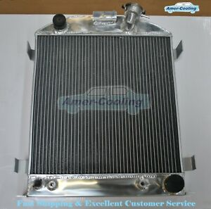 3row 62mm Aluminium Radiator For 1932 Ford Chopped Hot Rod Chevy V8 Engine At Mt