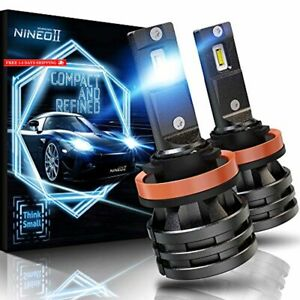 Nineo H11 Led Headlight Bulbs W small Size 10000lm 6500k Cool White Cree Chips H