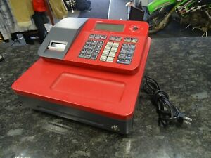Casio Cash Register For Small medium Sized Retail Businesses red