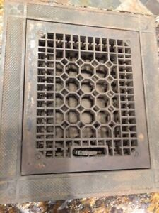 Rare Antique Vintage Cast Iron Wall Grate Floor Grate