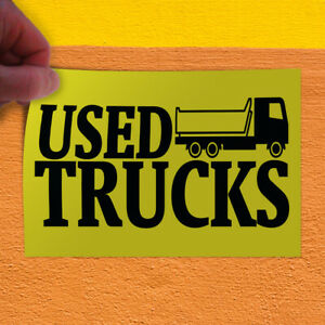 Decal Sticker Used Trucks Automotive Used Outdoor Store Sign Yellow