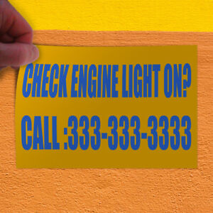 Decal Sticker Check Engine Light On Custom Number Style T Outdoor Store Sign