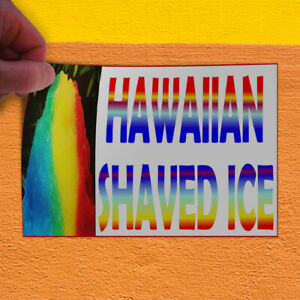 Decal Sticker Hawaiian Shaved Ice White Blue2 Retail Shaved Ice Store Sign