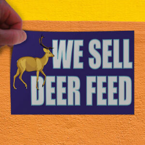 Decal Sticker We Sell Deer Feed Retails Deer Corn Outdoor Store Sign Purple