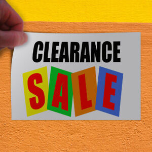 Decal Sticker Clearance Sale Business Business Clearance Sale Store Sign White