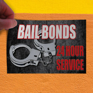Decal Sticker Bail Bonds 24 Hour Service Business Style U Business Store Sign