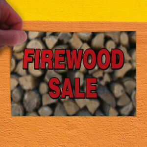 Decal Sticker Firewood Sale Business Style U Business Firewood Sale Store Sign