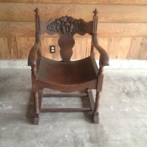 Antique Vintage Throne Chair Carved North Wind Face Lion S Heads Furniture Wood