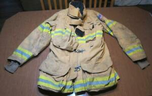 Lion Janesville Firefighter Fireman Turnout Gear Jacket Size 44 35 r a ba3