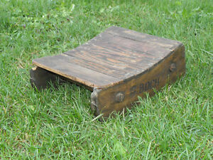 Primitive Wood Snow Sleigh Boch Sled Wooden Old Transported Barrel Wine Antique