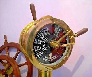 Ship S Engine Order Brass Telegraph Nautical 43 Inch