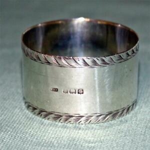 English Sterling 1927 Napkin Ring Hallmarked Birmingham By Wm Haseler