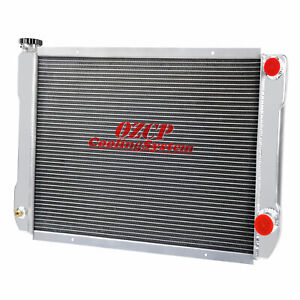 For Chevy Gm Style 26 X19 Universal Aluminum Racing Radiator Heavy Duty 2 Row