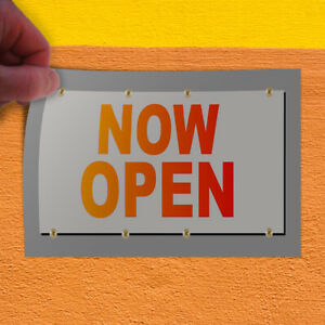 Decal Sticker Now Open Red Orange Business Now Open Outdoor Store Sign Orange