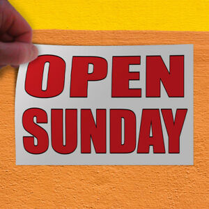Decal Sticker Open Sundays Auto Body Shop Car Repair Style U Outdoor Store Sign