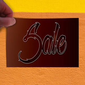 Decal Sticker Sale 1 Style E Business Sale Outdoor Store Sign Red