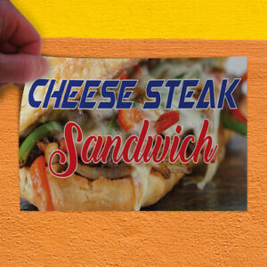 Decal Sticker Cheese Steak Sandwich Business Cheese Steak Sandwich Store Sign
