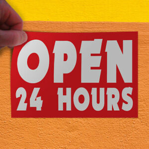Decal Sticker Open 24 Hours 1 Style B Business 24 Hours Outdoor Store Sign Red