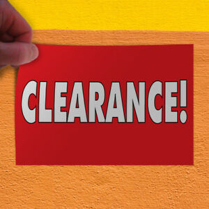 Decal Sticker Clearance Business Clearance Sale Outdoor Store Sign Red
