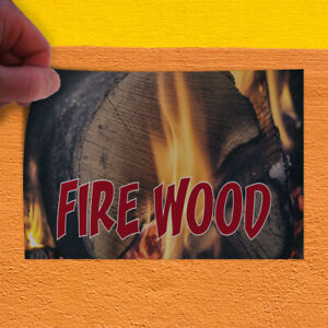 Decal Sticker Fire Wood 1 Business Firewood Outdoor Store Sign Blue