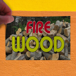 Decal Sticker Fire Wood 1 Style C Business Fire Wood Outdoor Store Sign Brown