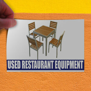 Decal Sticker Used Restaurant Equipment Business Outdoor Store Sign White