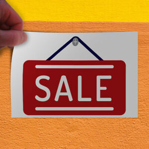 Decal Sticker Sale 1 Style Y Business Sale Outdoor Store Sign White