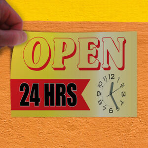 Decal Sticker Open 1 Style Aa Business Open 24 Hours Outdoor Store Sign Yellow