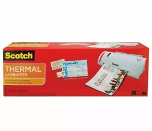 Scotch Thermal Laminator 14 75 X 4 75 X 3 75 Inches tl902 Plus 50 Pack Pouches