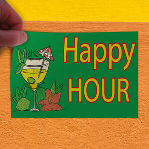 Decal Sticker Happy Hour 1 Style A Business Happy Outdoor Store Sign Green