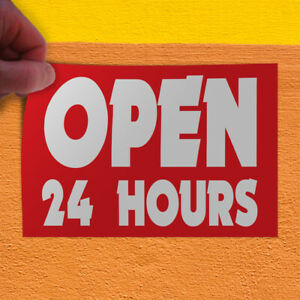 Decal Sticker Open 24 Hours 1 Style C Business Open Outdoor Store Sign Red