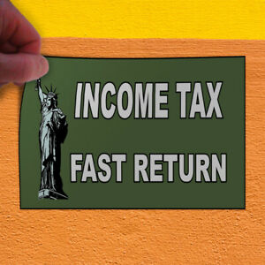 Decal Sticker Income Tax Fast Return Blue Red Business Outdoor Store Sign Blue
