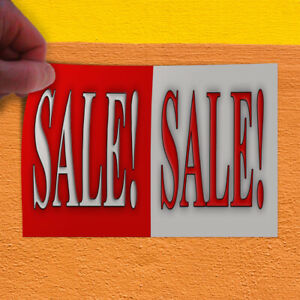 Decal Sticker Sale Sale Red White Business Sales Outdoor Store Sign Red