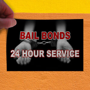 Decal Sticker Bail Bonds 24 Hour Service Black Business 24 Hours Store Sign