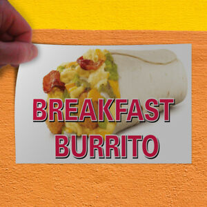 Decal Sticker Breakfast Burrito Restaurant Cafe Bar Outdoor Store Sign White