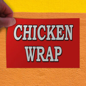Decal Sticker Chicken Wrap Food Fair Restaurant Food Beverage Store Sign Red