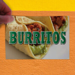 Decal Sticker Burritos Restaurant Cafe Bar Style R Restaurant Food Store Sign