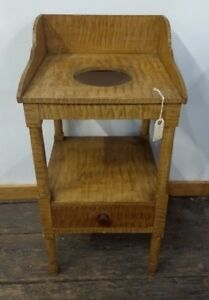 Painted Tiger Stripe Wash Stand