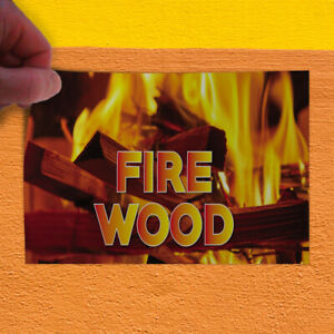 Decal Sticker Fire Wood 1 Style B Business Fire Wood Outdoor Store Sign Yellow