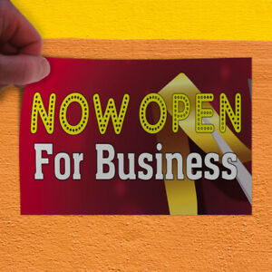 Decal Sticker Now Open For Business 1 Business Outdoor Store Sign Red