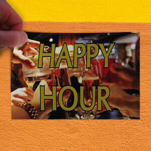 Decal Sticker Happy Hour 1 Style C Business Happy Hour Outdoor Store Sign