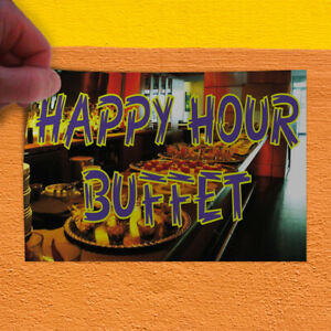 Decal Sticker Happy Hour Buffet Business Happy Hour Outdoor Store Sign Black
