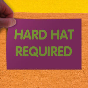 Decal Sticker Hard Hat Required Lifestyle Hard Hat Required Outdoor Store Sign